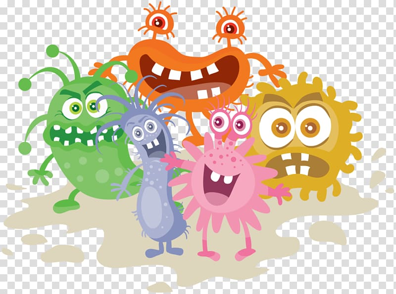 Microorganisms transparent background png. Bacteria clipart virus