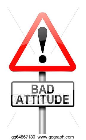 Bad clipart bad attitude. Drawing concept gg gograph