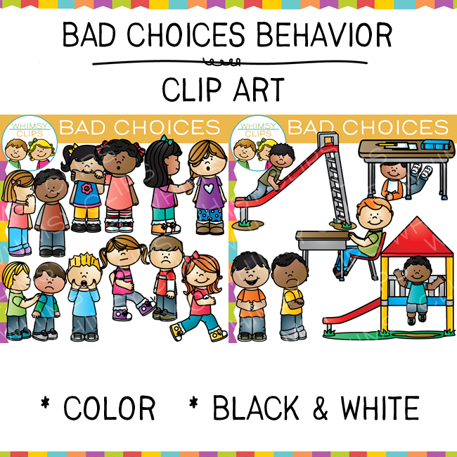 Choices clip art images. Bully clipart bad behaviour