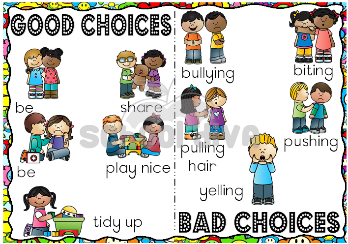 Good and choices school. Bad clipart bad choice
