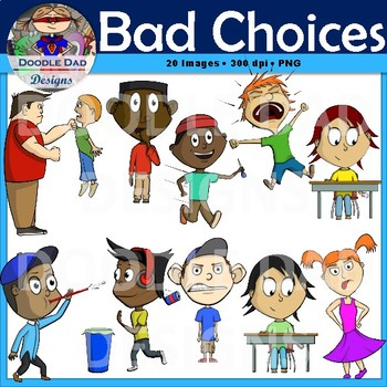 Bad choices clip art. Counseling clipart