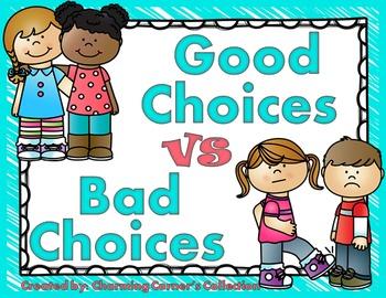 Good choices vs activity. Bad clipart bad choice