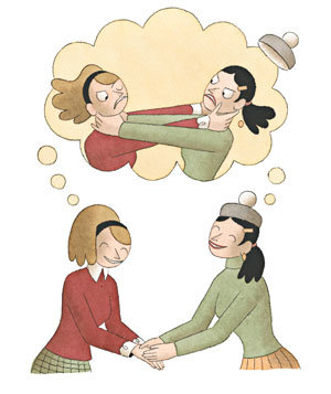 When friends behave badly. Bad clipart bad friend
