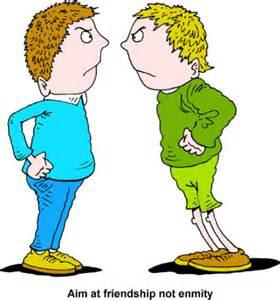 War enmity misunderstanding communication. Bad clipart bad friendship