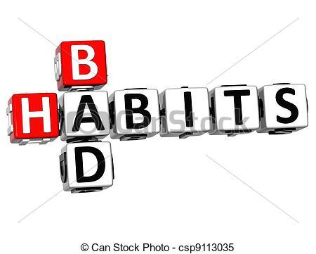 Bad clipart bad habit.  d habits crossword