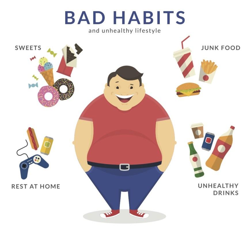 What are habits ascending. Bad clipart bad habit