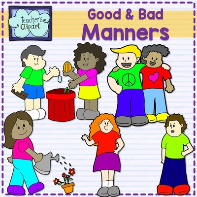 Good and manners multicultural. Bad clipart bad kid