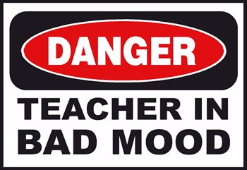 Danger teacher panda free. Bad clipart bad mood