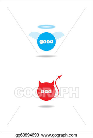 Vector stock angel and. Bad clipart bad sign