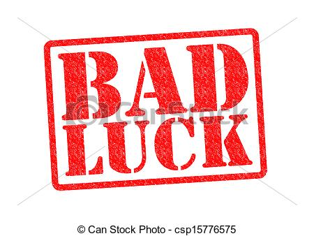 Luck . Bad clipart bad sign