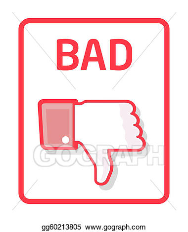 Stock illustrations thumb gg. Bad clipart bad sign