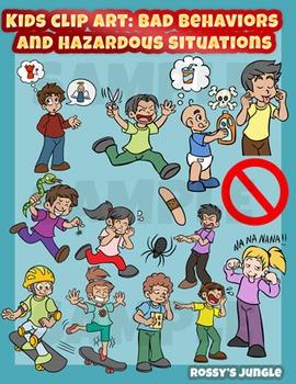 Bad clipart bad situation. Kids clip art behaviors