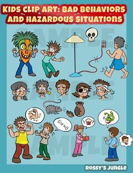 Kids clip art behaviors. Bad clipart bad situation