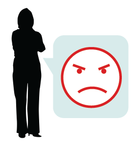 Beware of during interviews. Bad clipart body language