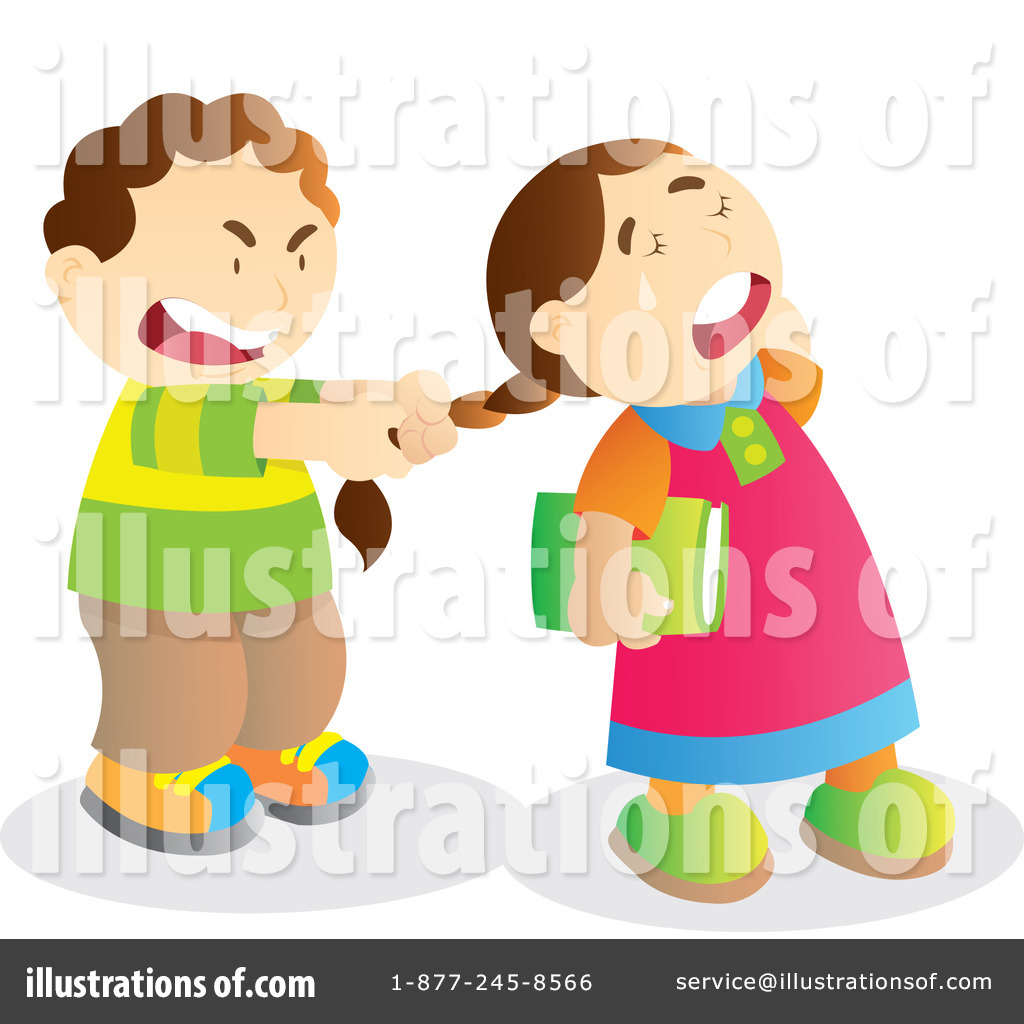 Bullying clipart bullying kid. Bully illustration by yuhaizan