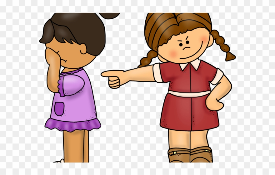 Bully clipart cartoon. Girl bullied png download