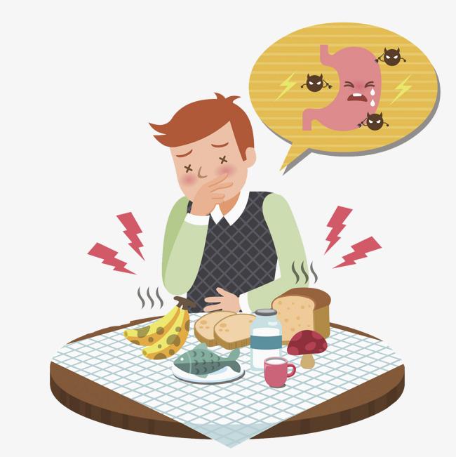 Bad clipart cartoon. A man who eats