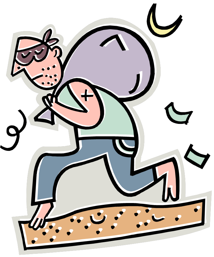 Free cartoon robber download. Poverty clipart financial issue