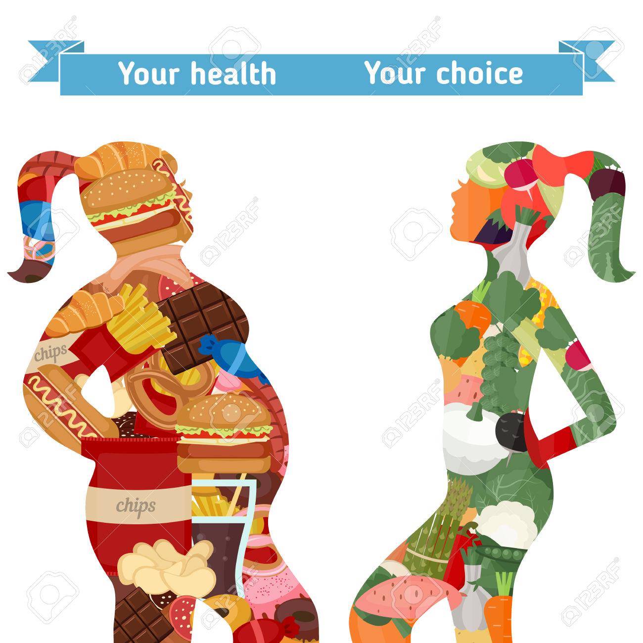 Natural te healthy eating. Bad clipart cartoon