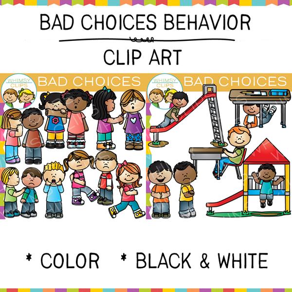 Cafeteria clipart behavior. Bad choices clip art