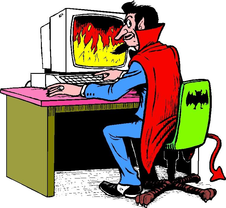 Criminal minds at work. Devil clipart bad guy
