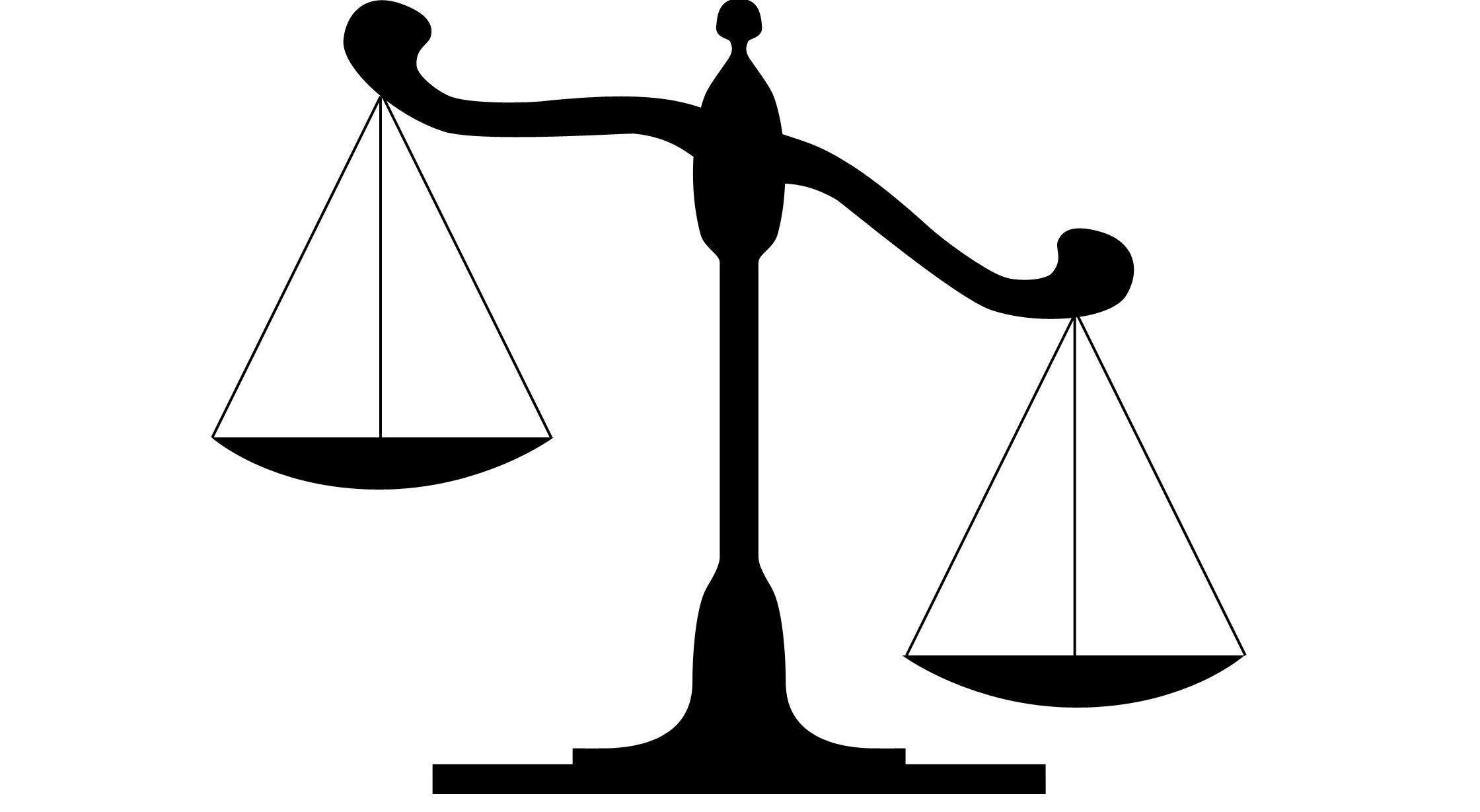 Balance clipart comparison. Weighing the advantages of