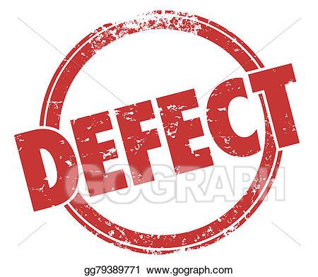 Stock illustration defect word. Bad clipart dissatisfaction
