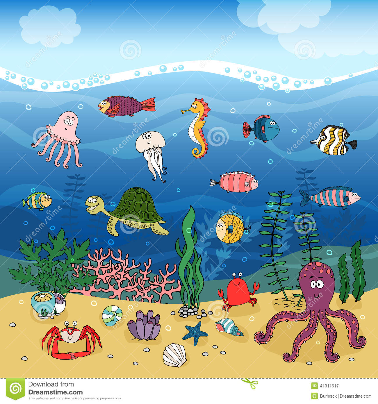 collection of ocean. Bad clipart ecosystem