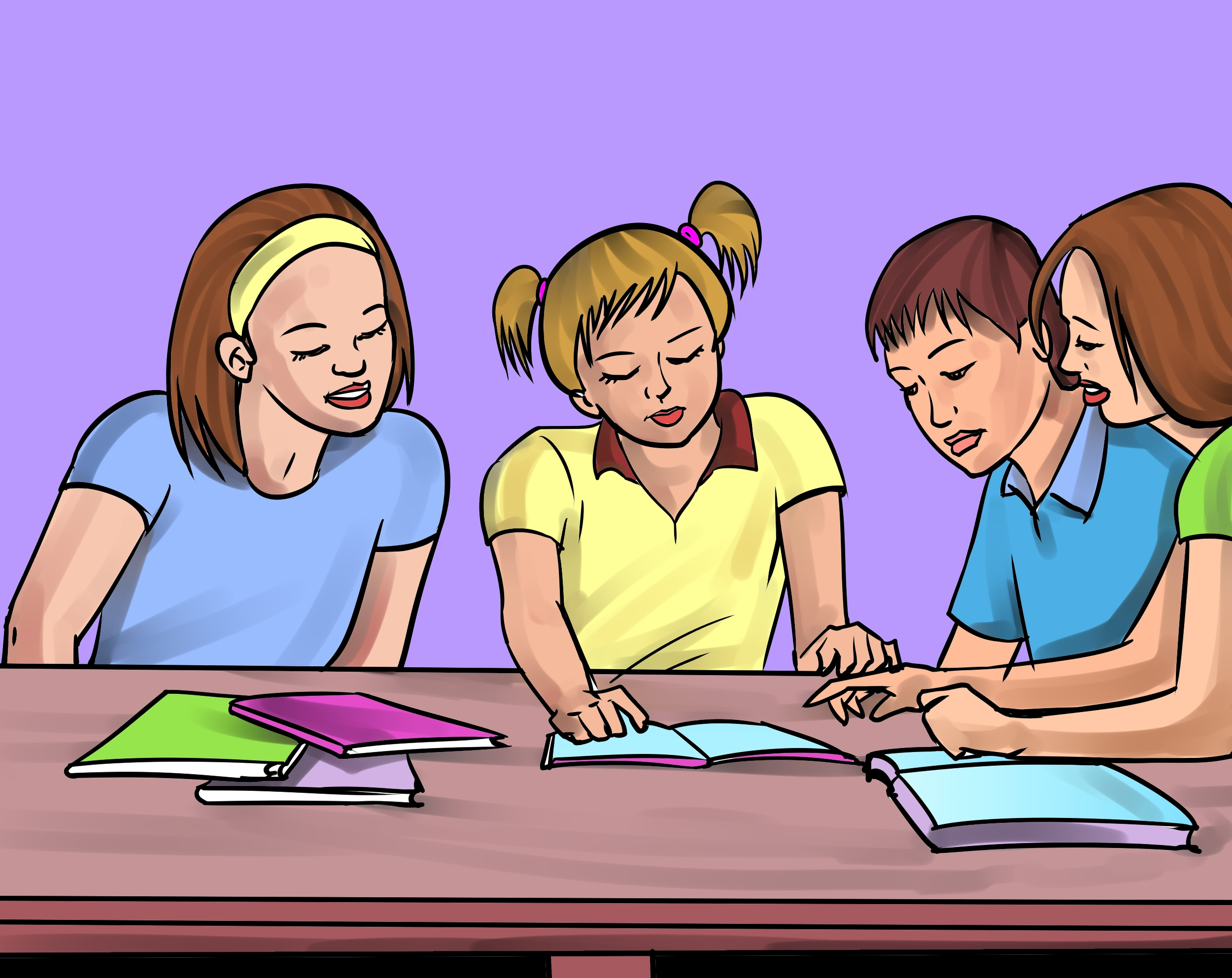 Bad clipart group work.  collection of school