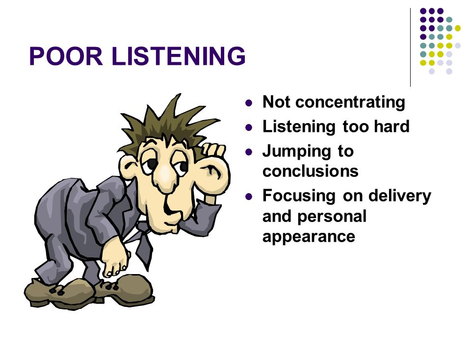 Bad clipart listener. Misconceptions about listening grice