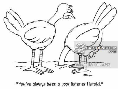 Bad clipart listener. Poor cartoons and comics
