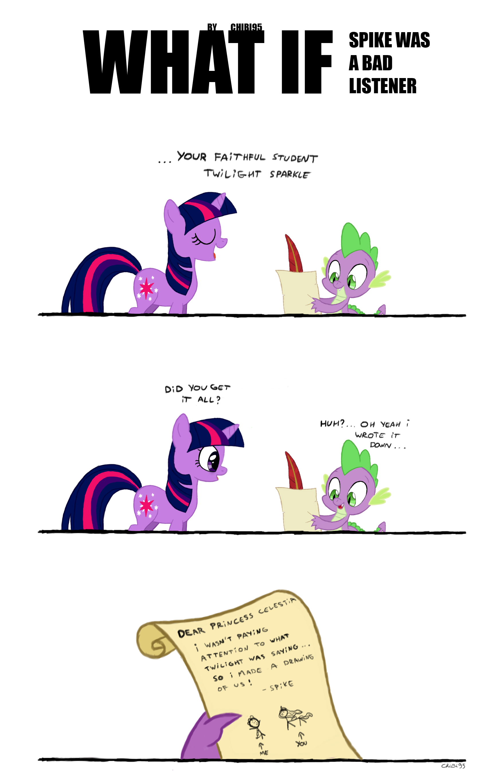 Bad clipart listener. What if spike was