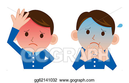 Bad clipart poorly. Stock illustration man with