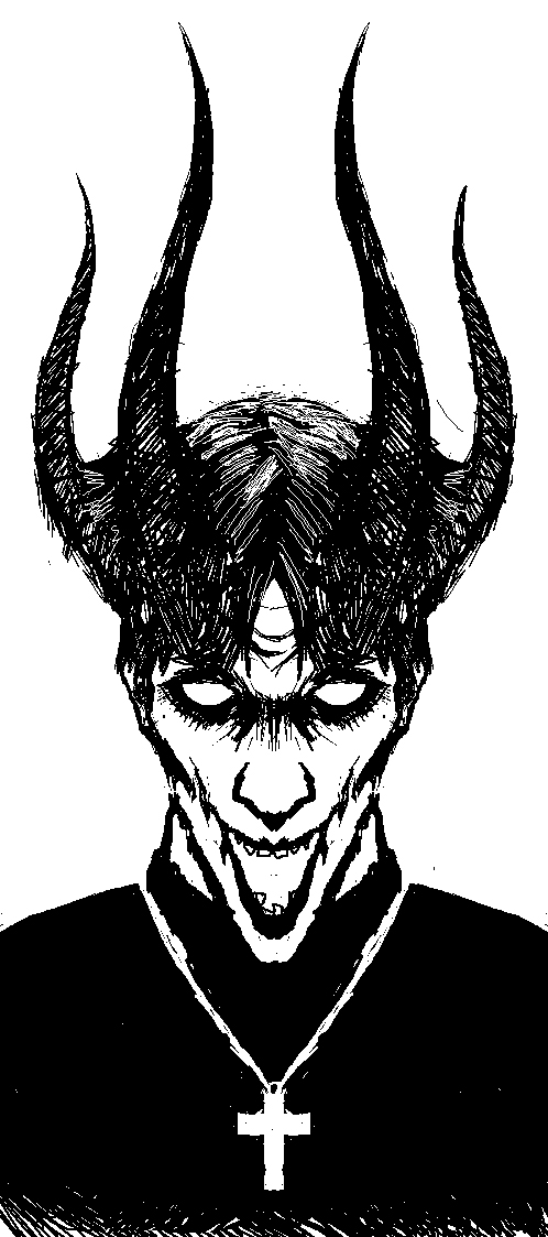 collection of evil. Bad clipart priest