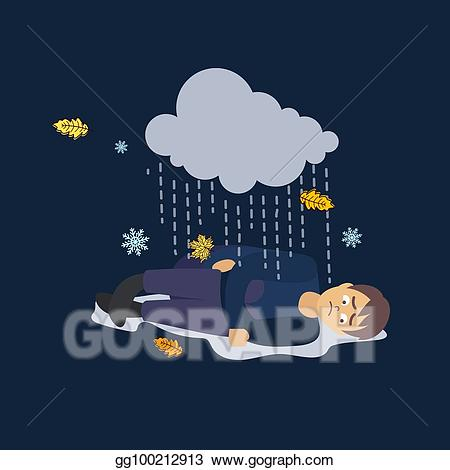 Eps vector man weather. Bad clipart sad