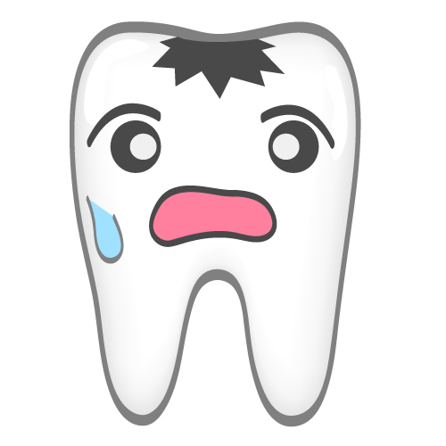 Teeth clipground tooth decay. Bad clipart sad