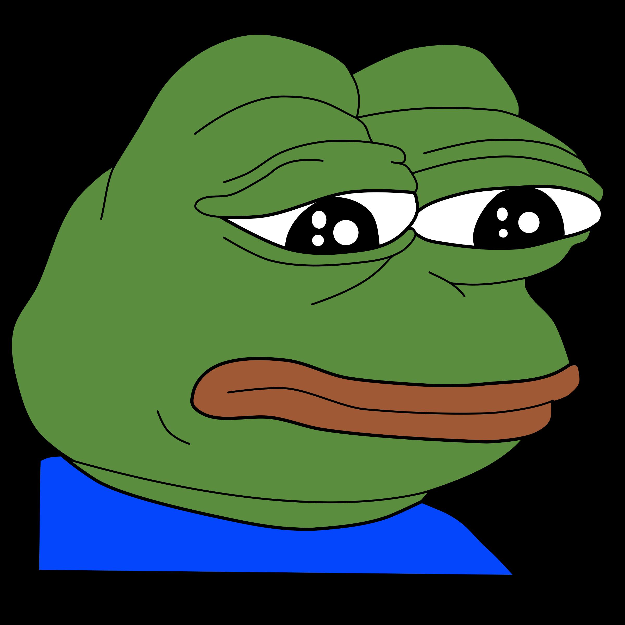 Depression clipart melancholy. Sad frog feels bad