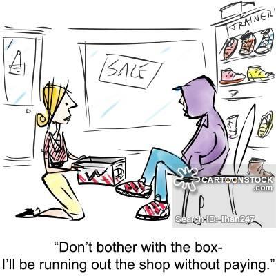 Bad clipart shoplifter. Shoplift cartoons and comics