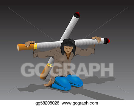 Bad clipart smoking. Stock illustration is harmful