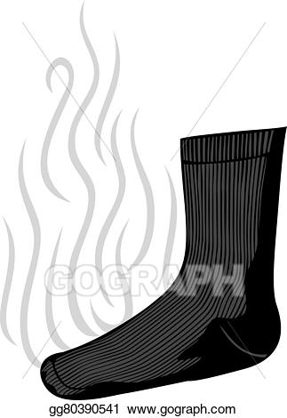 Eps illustration sock with. Bad clipart stinky