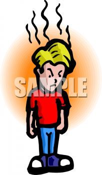 With temper clip art. Bad clipart tempered