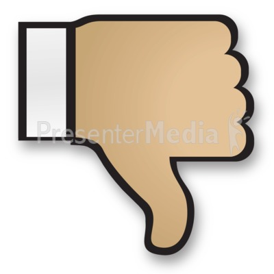 Bad clipart thumbs down. Hand cuff signs and