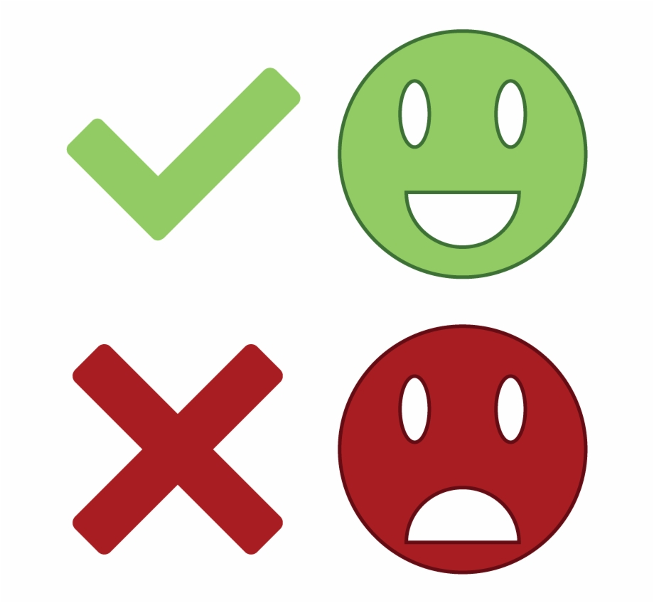 Being good or vs. Bad clipart transparent