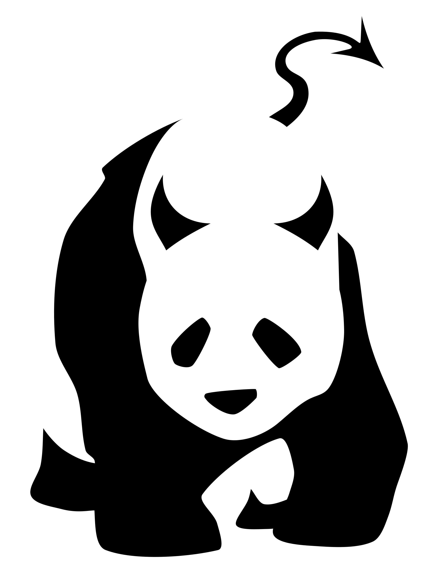Bad clipart transparent. Giant panda icons png