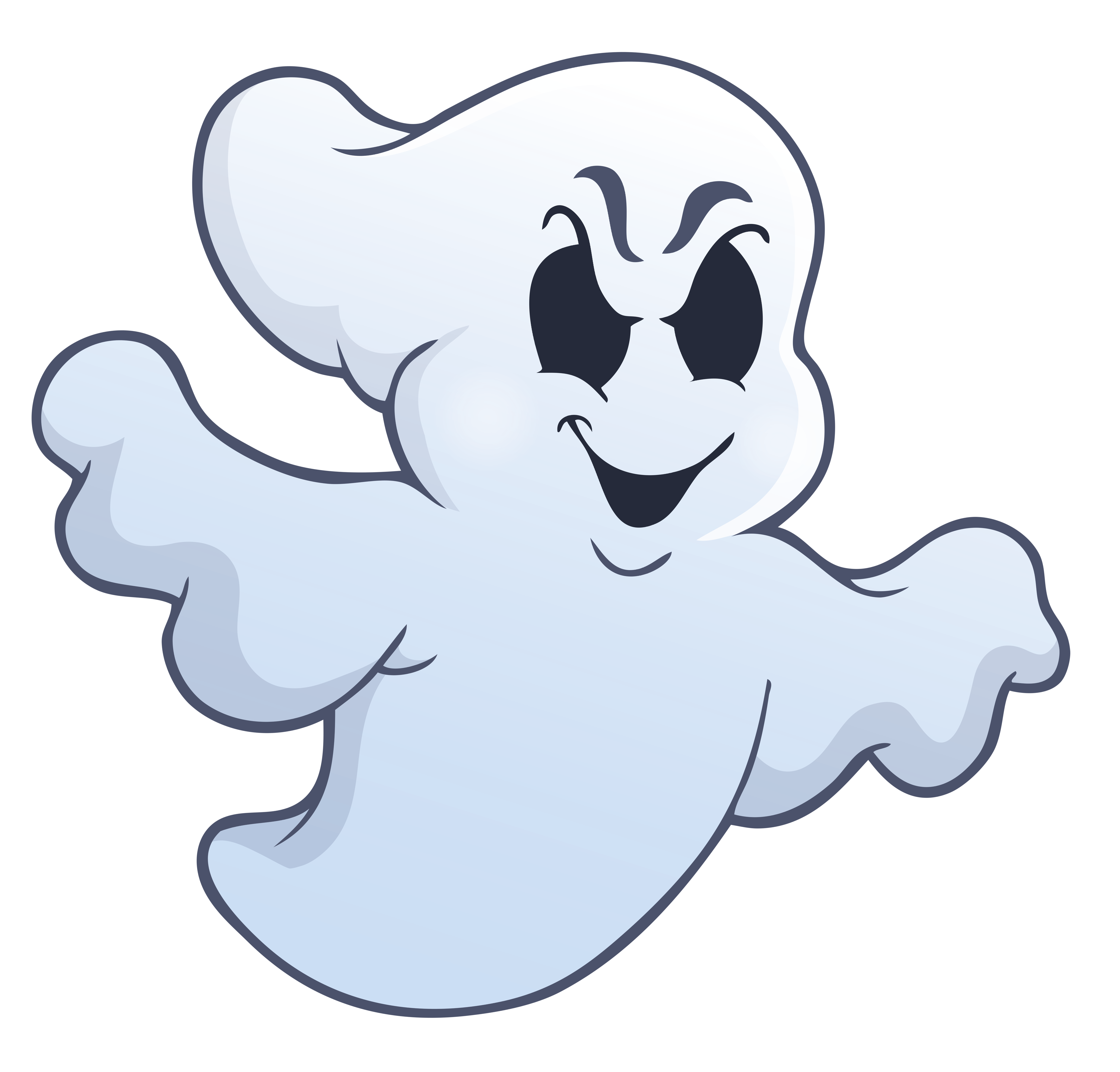 Squid clipart cartoon evil. Halloween ghost png picture