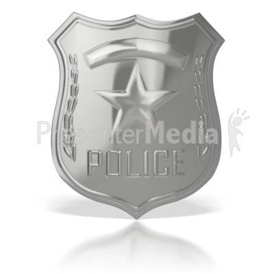 Badge signs and symbols. Background clipart police