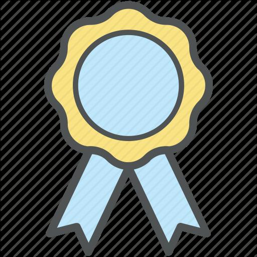 Ribbon medal transparent clip. Badge clipart award