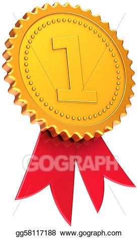 Drawing ribbon first place. Badge clipart award