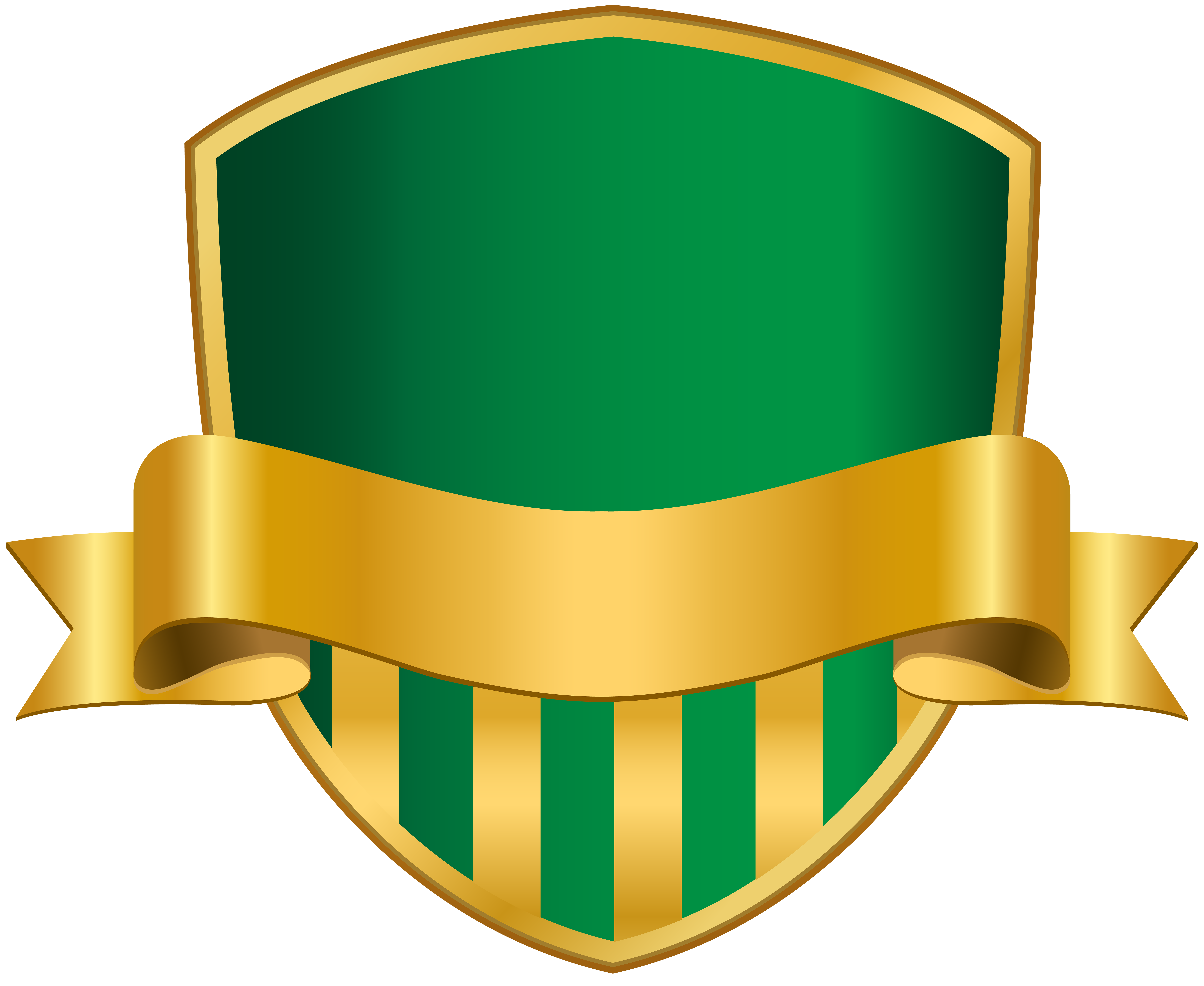 Badge with banner png. Clipart shield green