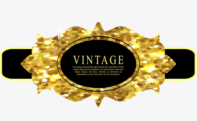 Golden png image and. Badge clipart banner